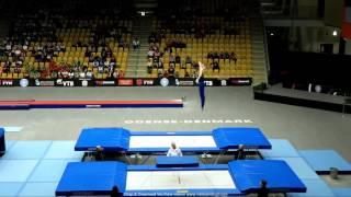 Выступление Микишко Артура на Чемпионате мира по прыжкам на батуте