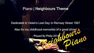 Neighbours Theme, My Piano Version, Helen Daniels Sad Death