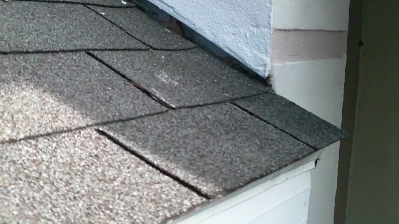 No roof kick out flashing youtube for Roof diverter flashing