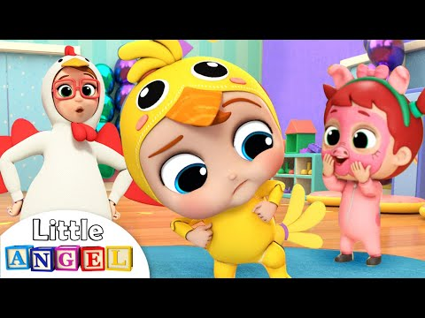 Baby John Does the Chicken Dance | Little Angel Nursery Rhymes & Kids Songs