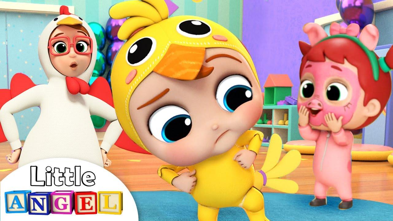 Download Baby John's Chicken Dance | Little Angel Nursery Rhymes & Kids Songs