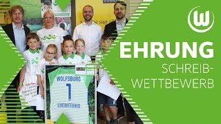 Ehrung Schreibwettbewerb 2018   VfL Wolfsburg