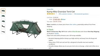 Check out my new K&-Rite Oversize Tent Cot  sc 1 st  C&ingCenter.PW & Cheapest Kamp-Rite Oversize Tent-cot with Rainfly only $168.49 + ...