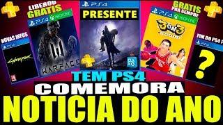 SONY DIZ QUANDO SERÁ O FIM DO PS4, PRESENTE NO PS4 & Jogos Gratis Corree! (Noticias PS4/PS5/XBOX)