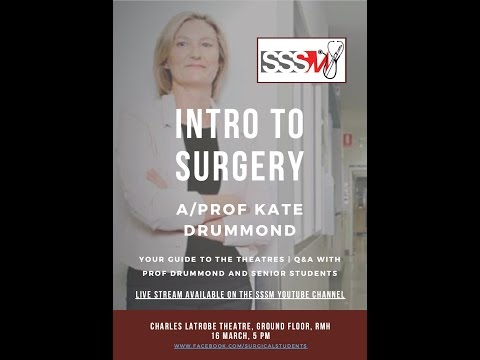to Surgery  with AProf Kate Drummond