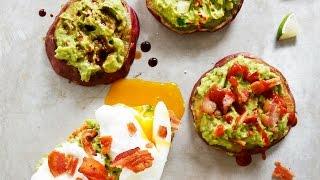 Avocado Toast on Sweet Potato Buns Recipe