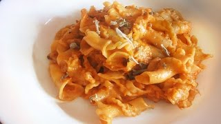 Campanelle With Braised Cabbage, Mustard And Sage / Vegetarian Romanian Pasta Recipe
