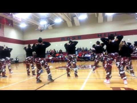 RoseHill Middle School Cheerleaders! Basketball Homecoming 2014