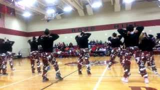 RoseHill Middle School Cheerleaders! Basketball Homecoming 2014