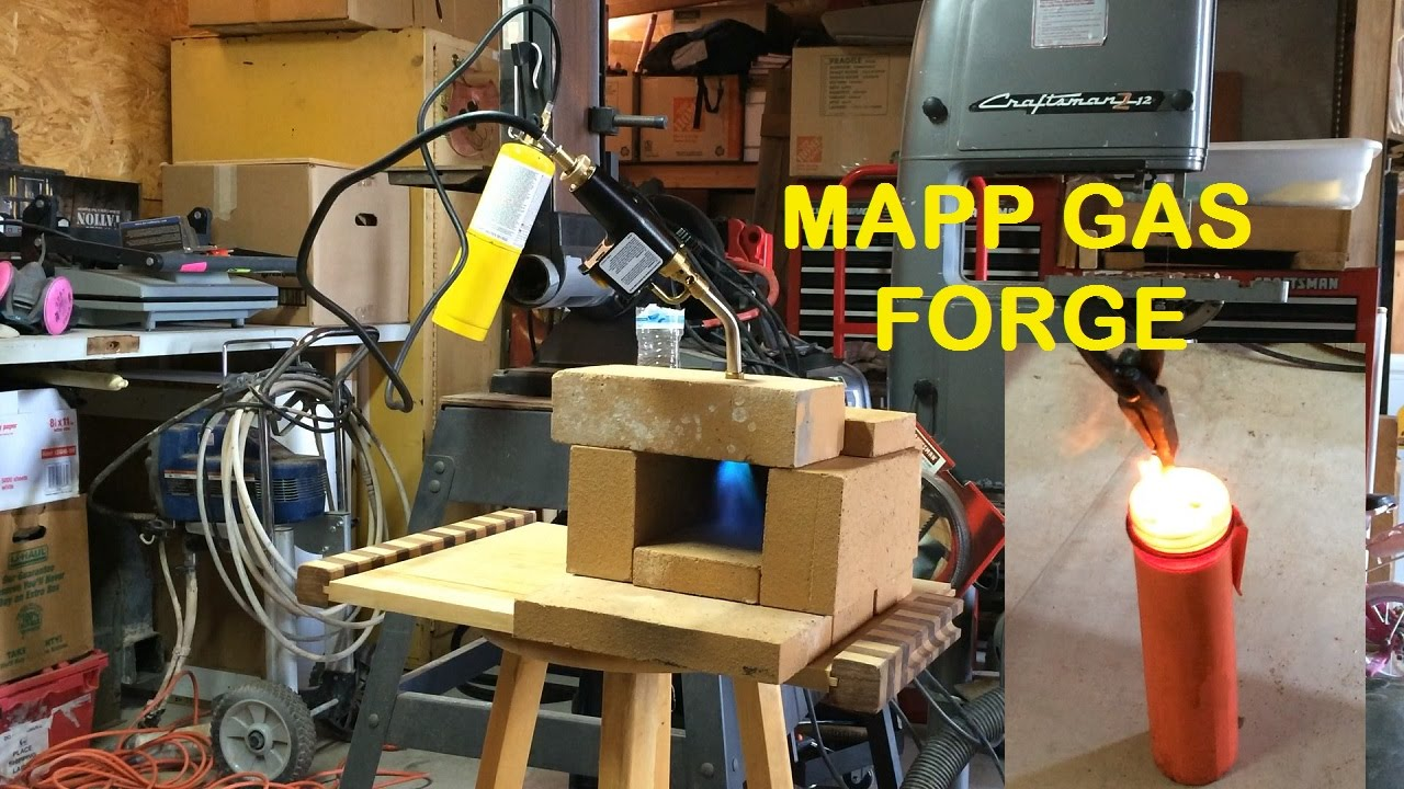 Knife Making Mapp Gas Forge Youtube