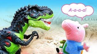 Фото Мультик про Свинку Пеппу иигрушки измультфильмов— Джордж Пеппа идинозавр