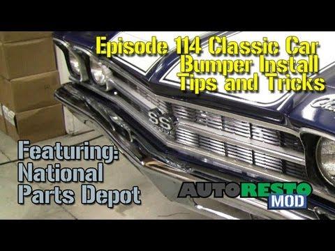 Episode 114 Classic Car Bumper Install Tips and Tricks Autorestomod