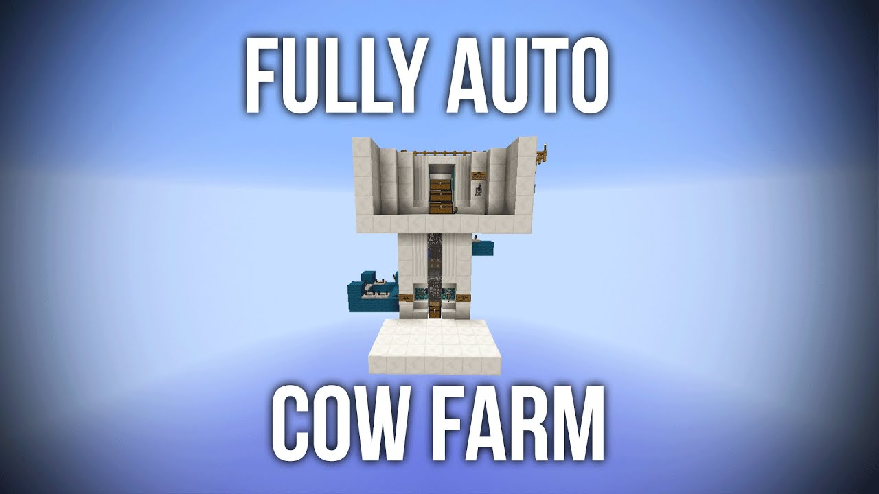 Minecraft fully automatic cow farm afk redstone tutorial youtube malvernweather Choice Image