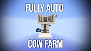 Minecraft Fully Automatic Cow Farm AFK - Redstone Tutorial