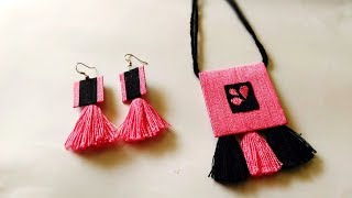 HOW TO MAKE HANDMADE JEWELLERY # NECKLACE EARRING SET II