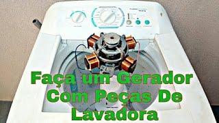 GERADOR DE ENERGIA LIMPA COM MOTOR DE MÁQUINA DE LAVAR