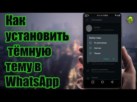 Как установить тёмную тему в WhatsApp?