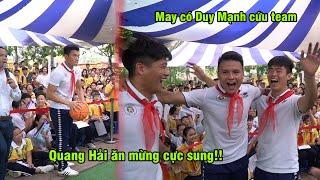 Duy Mạnh ném bóng rổ cứu thua cho Quang Hải, Tiến Dũng trước nữ sinh cấp 2   Ted Trần TV