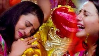 #Akshara_Singh // मईया का बिदाई गीत गाकर फुट फुट के रोई  //Bhojpuri Devi Bidai Geet 2020
