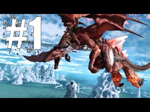 Crimson Dragon Walkthrough Part 1 Xbox One Gameplay Lets Play Review