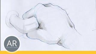 Hände zeichnen - Tutorial Hand zeichnen. Bewegung: drücken