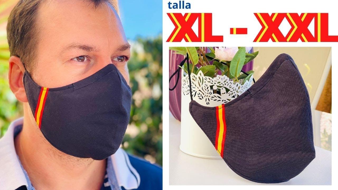 MASCARILLA CON BOLSILLO Y ADAPTADOR CON SOLO UNA GOMA / TALLA XL - XXL
