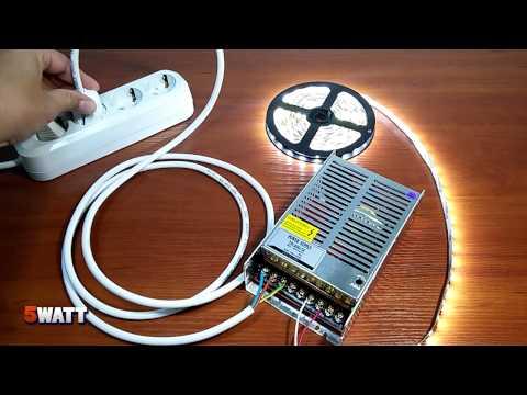 Подключение светодиодной ленты к разным блокам питания