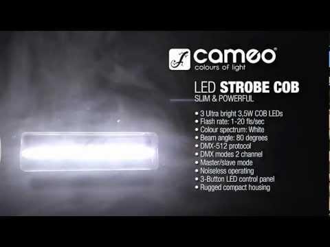 Cameo Light STROBE1 - HIGH QUALITY STROBE with 3 x 3.5 W WHITE COB LEDS