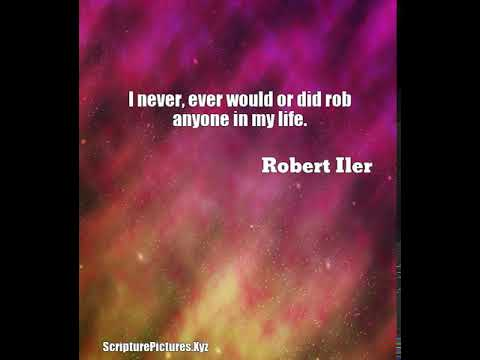 Robert Iler: I never, ever would or did rob anyone in my life....