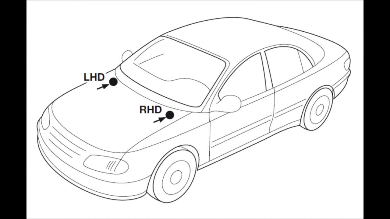 Cabin air (pollen) filter change on Mercedes C-class W 203