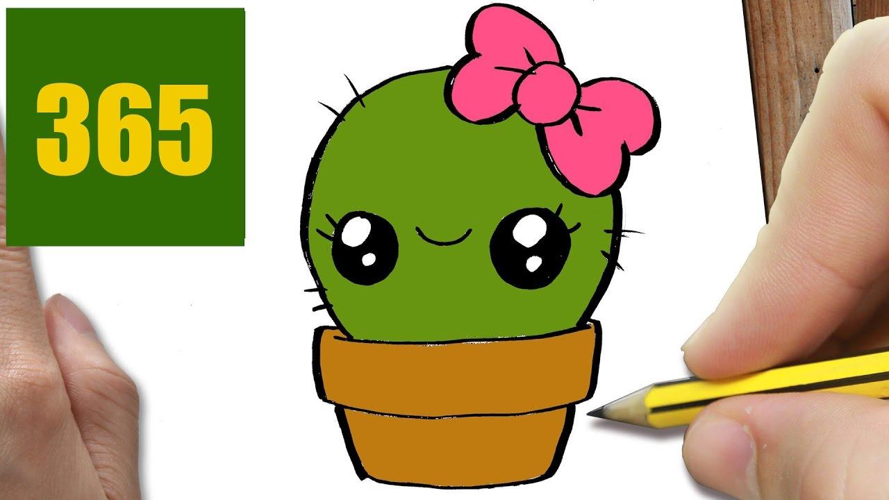 hur man ritar kaktus kawaii steg f r steg   kawaii