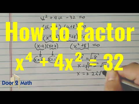 Solve Higher Order Polynomial Equation By Factoring X4 4x2
