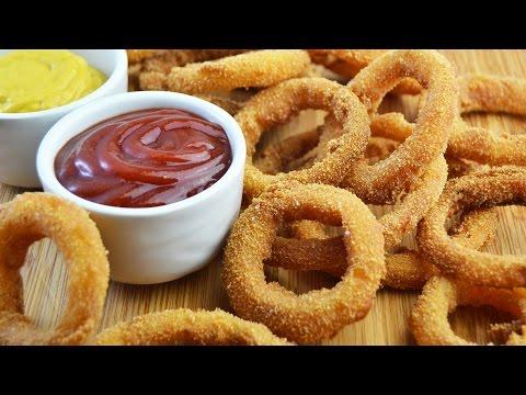 Aros de Cebolla Crujientes (Onion Rings)   Recetas de Aperitivos