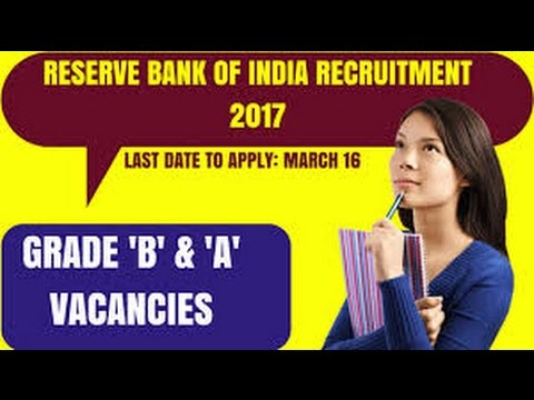 RBI(Reserve Bank Of India) Recruitment 2017, Manager & Assi. Manager Apply Online