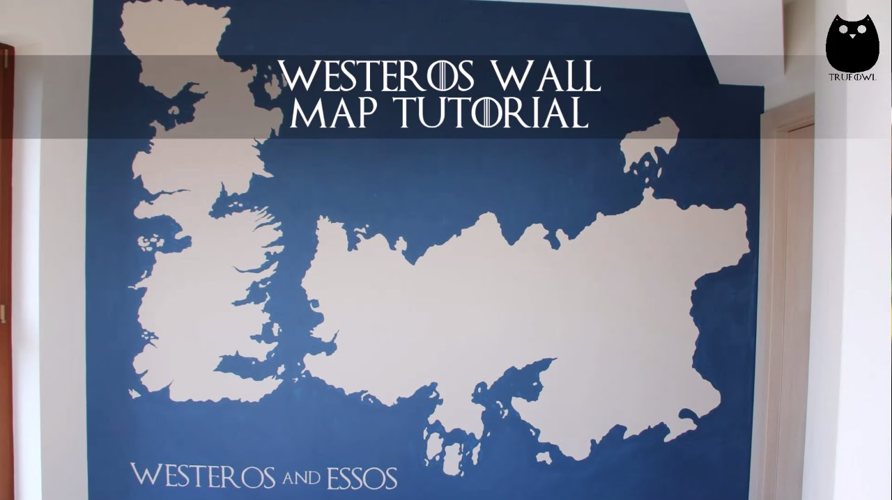 DIY Westeros Wall Map Tutorial - Game of Thrones - YouTube