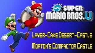 Let's Play New Super Mario Bros. U 2p Co-op (layer-cake Desert-castle: Morton's Compactor Castle)