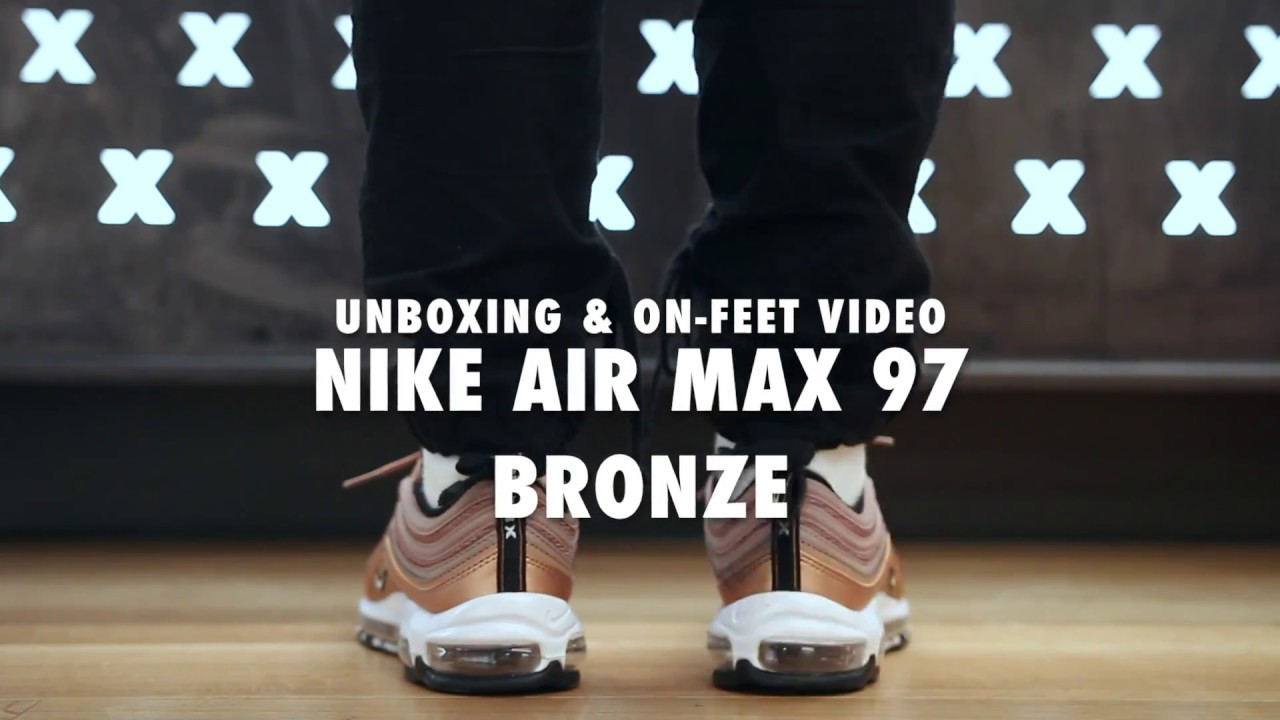 Nike Air Max '97 Bronze Unboxing & On feet Video at Exclucity