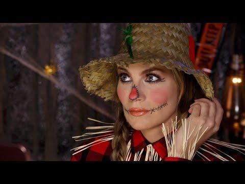 Scarecrow Makeup Tutorial   Easy Halloween DIY Angela Lanter