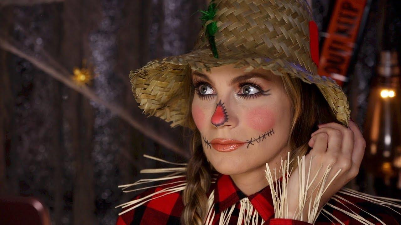 scarecrow makeup tutorial easy halloween diy angela