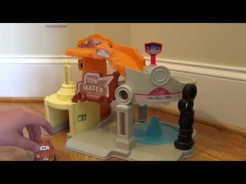 CARS Fisher-Price Little People Wheelies Radiator Springs Unboxing And Review