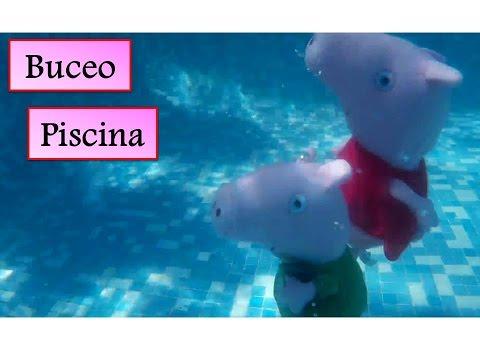 peppa pig y george bucean en la piscina v deos de peppa