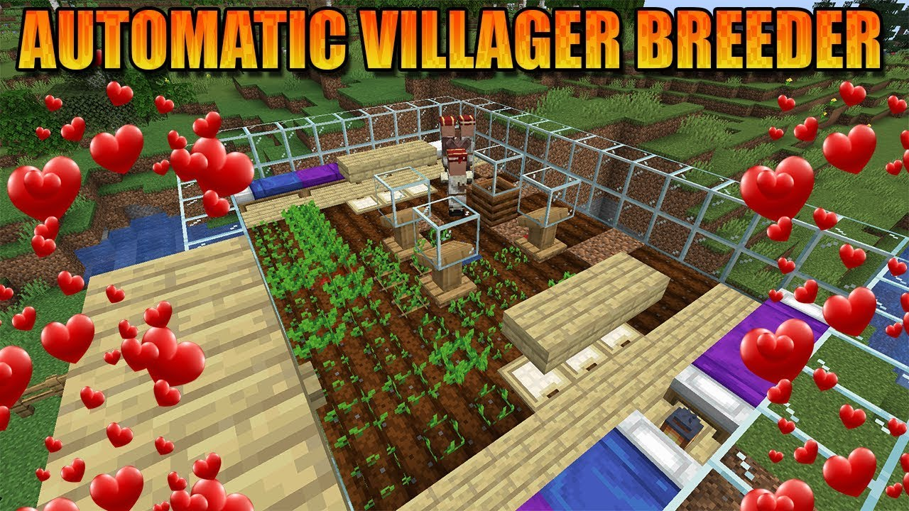 MAKING A AUTOMATIC VILLAGER BREEDER IN MINECRAFT!