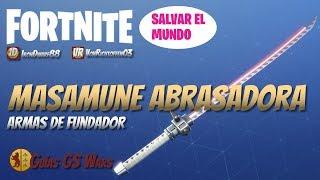 Espada de Fuego MASAMUNE ABRASADORA DE FUNDADORES | Guía de Armas FORTNITE