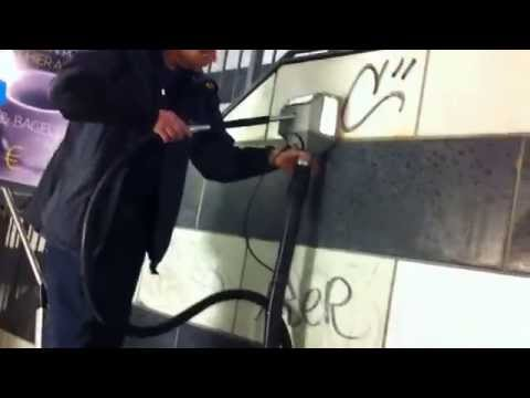 Graffiti Removal From Sandstone On Subway