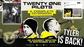 Surprise Show In London! Tyler Is Back! The Album is finished! (Twenty One Pilots)