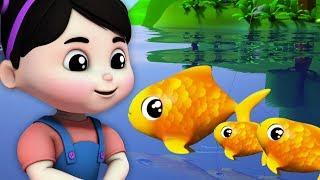 pegou um peixe vivo | rima para crianças | contando números de 1 a 10 | Once I Caught A Fish Alive
