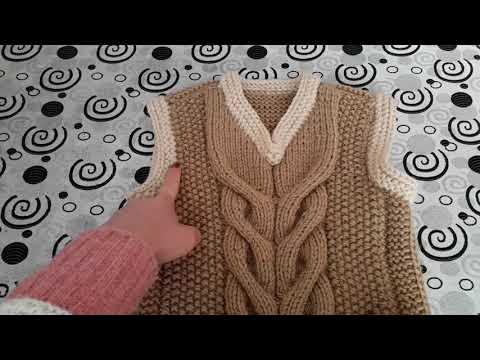 Вязание жилетки для мальчика. С 3 до 5 лет.