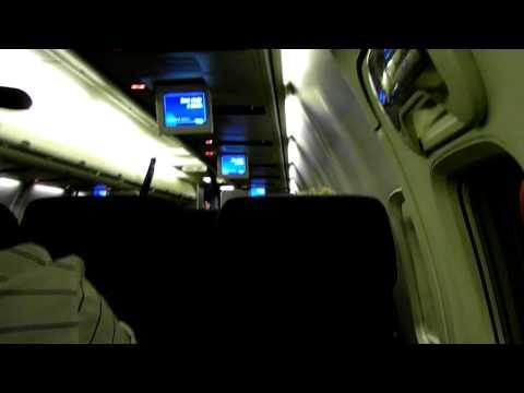 HD Inside Continental Micronesia 737-700 Coach United Economy Cabin Interior Boeing Guam