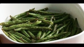 Quick Oven Roasted Green Beans