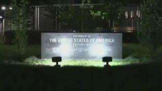 Terror attack outside US embassy in Ukraine